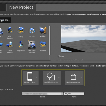 New Unreal project